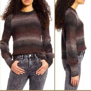 BP Ombré Metallic Stripe Sweater